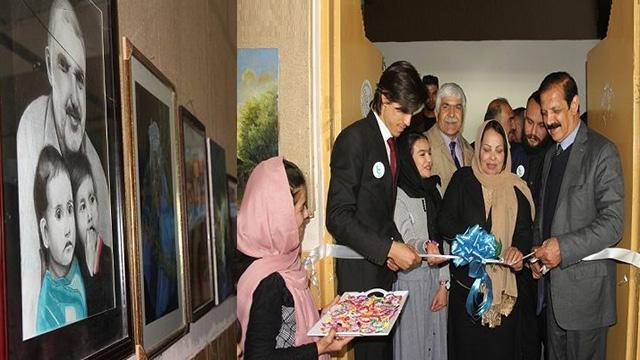 برگزاری یک نمایشگاه نقاشی در نگارستان ملی افغانستان