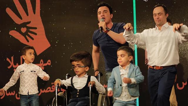 ضیافت افطاری هنرمندان ایرانی و شادی کودکان سرطانی