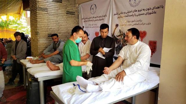پویش نذر خون در افغانستان؛ مردم کابل در روز عاشورا رکورد زدند