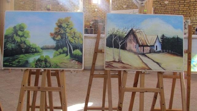 نمایش 150 اثر هنری در نمایشگاه نقاشی «مزارشریف» افغانستان