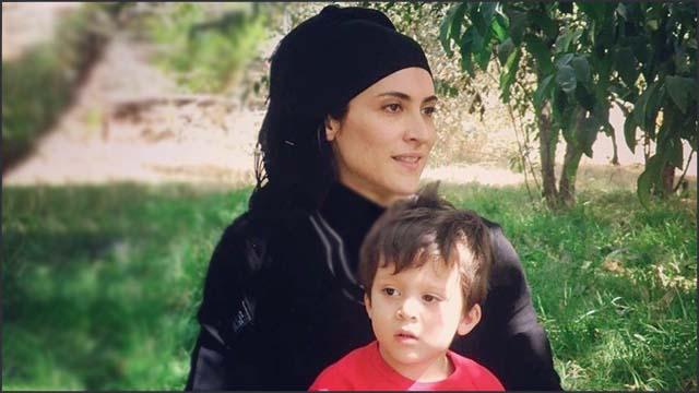 إطلالة قديمة للفنانة الإيرانية ويشكا آسايش برفقة إبنها!